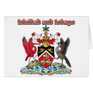 Grunge Trinidad and Tobago coat of arms designs Greeting Card