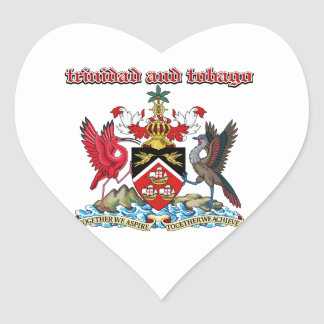 Grunge Trinidad and Tobago coat of arms designs Heart Sticker