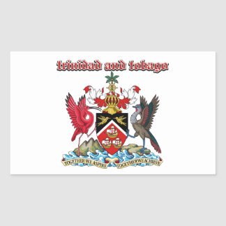 Grunge Trinidad and Tobago coat of arms designs Rectangular Sticker