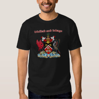 Grunge Trinidad and Tobago coat of arms designs T Shirt