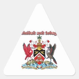 Grunge Trinidad and Tobago coat of arms designs Triangle Sticker