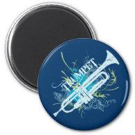 Grunge Trumpet Magnet