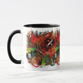 grunge tulip mug