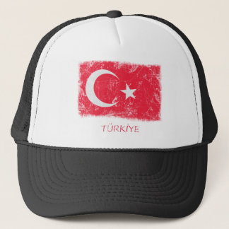 Grunge Turkey Flag Trucker Hat