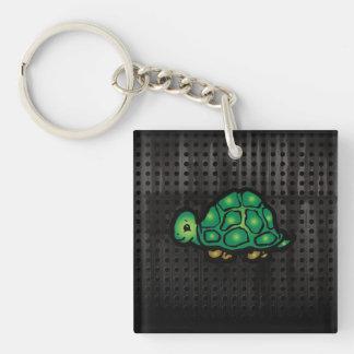 Grunge Turtle Keychain