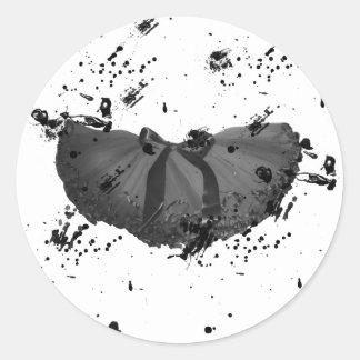 Grunge Tutu Round Stickers