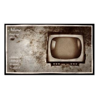 Grunge TV Repair Shop - Business Card
