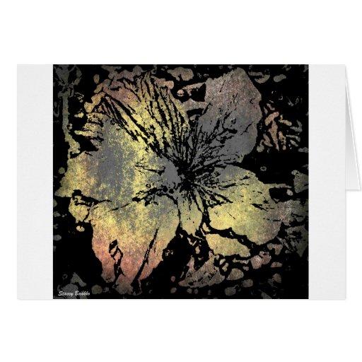 Grunge type flower card