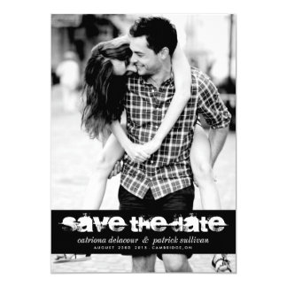 GRUNGE TYPOGRAPHY SAVE THE DATE PHOTO ANNOUNCEMENT
