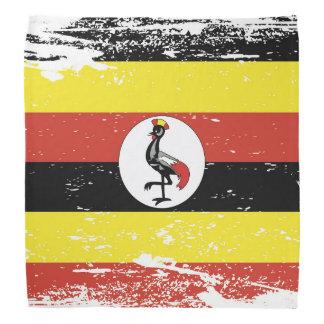 Grunge Uganda Flag Bandana