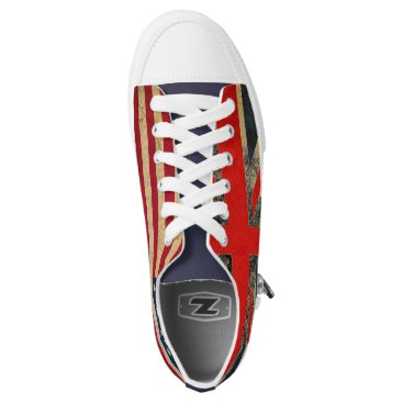 USA Themed Grunge UK Flag and USA Flag Custom Trainers Low-Top Sneakers