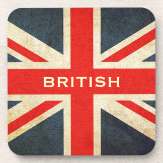 Grunge UK Flag British Union Jack Coaster Set