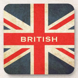 Grunge UK Flag British Union Jack Coaster Set