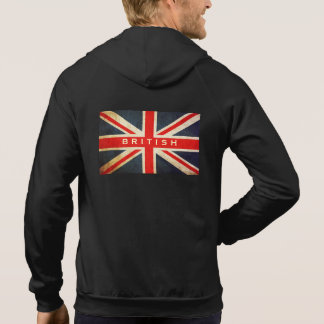Grunge UK Flag British Union Jack Zip Hoodie