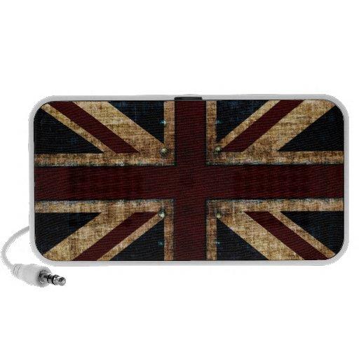 grunge UK flag design speakers