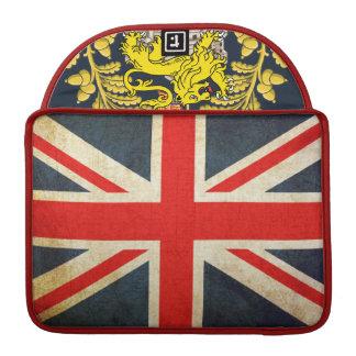 Grunge UK Flag Posh Union Jack Computer Sleeve