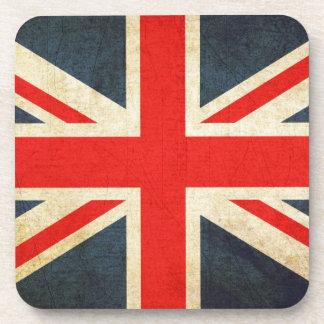 Grunge UK Flag Union Jack Coaster Set