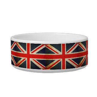 Grunge UK Flag Union Jack Pet Bowl