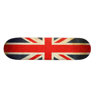 Grunge UK Flag Union Jack Skateboard