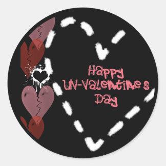 Grunge Un-Valentine Heart Stickers