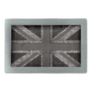 grunge Union Jack - black and white belt buckle
