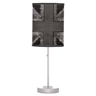 grunge union jack black and white table lamp