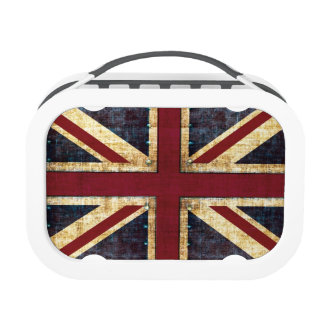 Grunge Union Jack British flag Replacement Plate