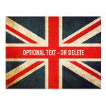 Grunge Union Jack / British Flag Postcard