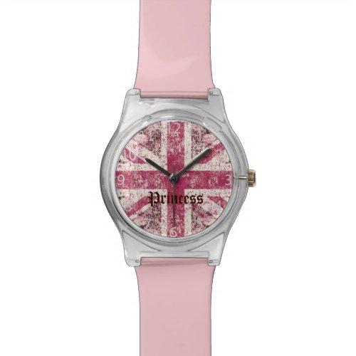 grunge union Jack British Flag Wrist Watch