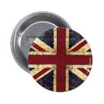 Grunge Union Jack - classic Pin