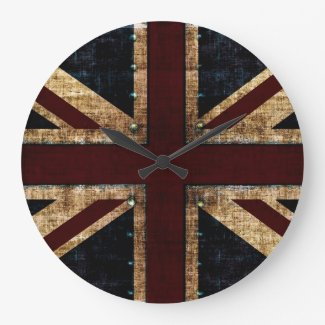 grunge union Jack clock