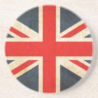 Grunge Union Jack Coaster