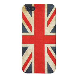 Grunge Union Jack  Cover For iPhone SE/5/5s