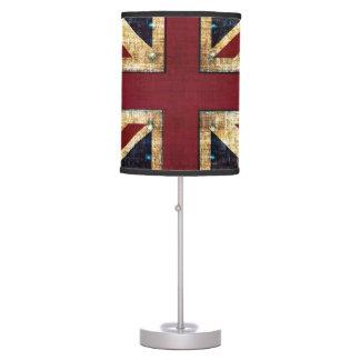 grunge union jack desk lamp