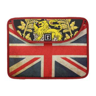 Grunge Union Jack Heraldry Lion MacBook Pro Sleeve
