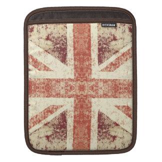 Grunge Union Jack i-pad case Sleeves For iPads