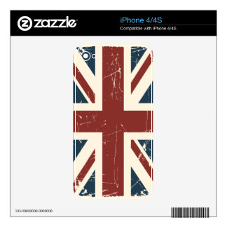 Grunge Union Jack iPhone 4/4S Case Decal For The iPhone 4S