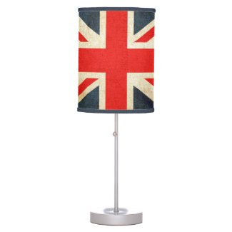 Grunge Union Jack Lamp