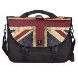 grunge union jack laptop bag