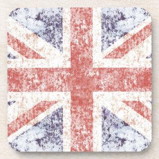 Grunge Union Jack - light Coaster
