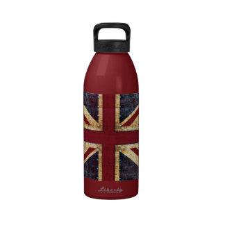 Grunge Union Jack - obra clásica - apariencia vint Botellas De Beber