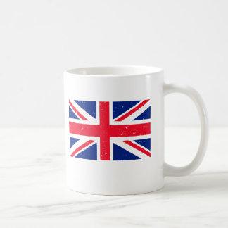 Grunge Union Jack of Great Britain Classic White Coffee Mug