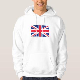 Grunge Union Jack of Great Britain Hoodies