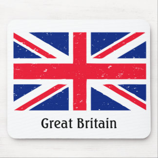 Grunge Union Jack of Great Britain Mouse Pad