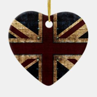 Grunge Union Jack ornament