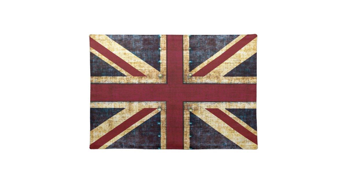 Schoudertas Union Jack : Grunge union jack placemat zazzle