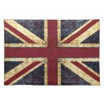 Grunge union jack placemat cloth place mat