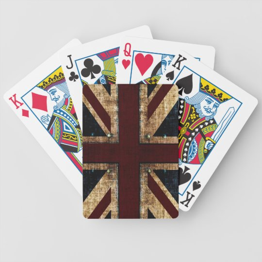 grunge Union jack playing cards