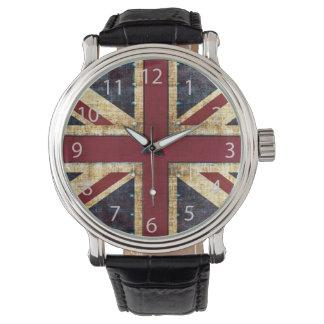 Grunge Union Jack Reloj