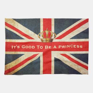 Grunge Union Jack Royal Princess Kitchen Towel